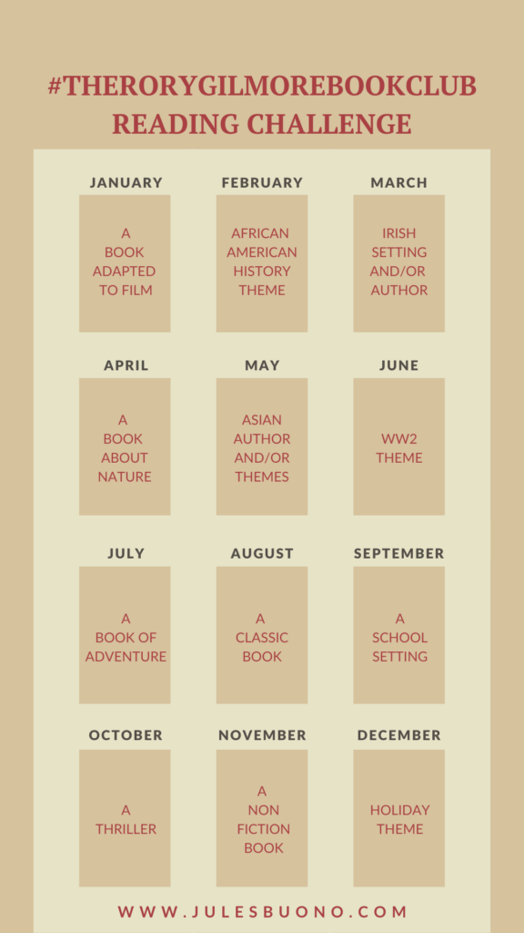 The Rory Gilmore Book Club Reading Challenge Instagram Story Template